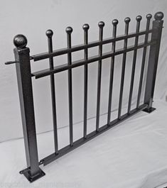 Railings-Fencing-Steel-fence-Wrought-iron-elemenths high m wide gbp Wrought Iron Headboard, Wrought Iron Doors, Wrought Iron Fences, Garden Railings, Wall Railing, Steel Fence, Aluminum Fence, Iron Wall, Fence Design