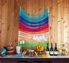 Colorful Yarn Backdrop | 37 Things To DIY Instead Of Buy For Your Wedding