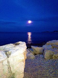 Full moon. Javea Port.