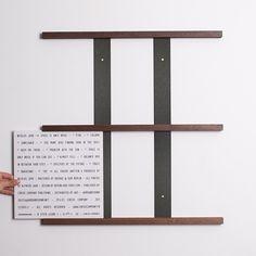 Walnut vinyl display rack. Into it.