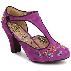 Miss L Fire Oriental Purple shoes - can't wait to wear these again Vintage Inspired Shoes, Beautiful Heels, Purple Shoes, Court Shoes, Shoe Brands, Me Too Shoes, Recovery, Oriental, Kitten Heels