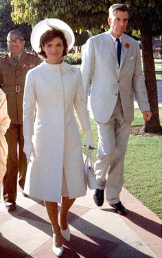 Jackie Kennedy with Ambassador John Galbrath, right, in India in 1962.