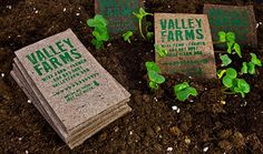 If you're in the farming or gardening business, try adding plant seeds in your business cards!