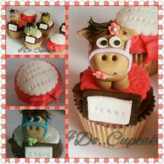 Horse themed cupcakes by I Do...Cupcakes in the UK. Check out www.facebook.com/idocupcakes01