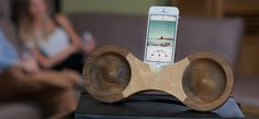 Eight is wooden acoustic amplifier designed for your iPhone 5s