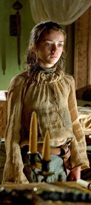 """Arya Stark, Game of Thrones. """"The daughter picks up a warrior's sword"""". I love House Stark and Arya represents the family perfectly. A child that survives through the winter."""