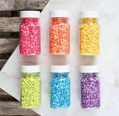 Bright Rainbow Confetti Sprinkles Set