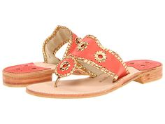 New arrival at Monkee's of Fredericksburg! Jack Rogers in Nantucket Gold and Coral...