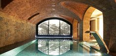 Hotel Barcelona - I want to spend a chilly winter afternoon swimming in this cozy indoor pool. Barcelona Hotels, Barcelona Spain, Indoor Swimming Pools, Swimming Pool Designs, Lap Swimming, Hotel Pool, Hotel Spa, Piscina Interior, Dream Pools
