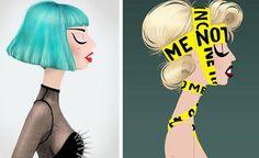 O ilustrador argentino Adrian Valencia deve ter se impressionado tanto com as diferentes facetas da Lady Gaga que fez uma série de ilustrações da cantora:Via