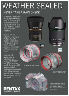 Learn more about our Weather-Sealed lenses!