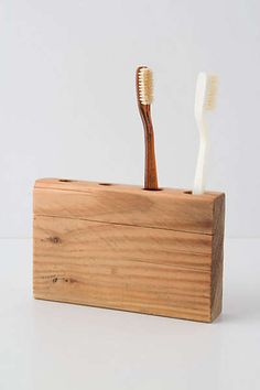 Anthropologie - Timber Trail Toothbrush Holder