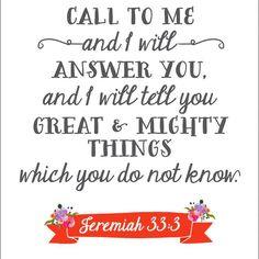 Call to me | Jeremiah | QOTD | Pray | Instagram Quotes