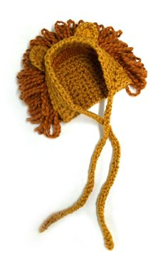 Crochet Lion Hat - Tutorial from Lion Brand Crochet Lion, Crochet Baby Hats, Crochet Beanie, Cute Crochet, Crochet For Kids, Crochet Crafts, Baby Knitting, Knit Crochet, Newborn Crochet
