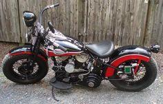 Photo of 1946 WL Flathead Harley Oldschool Bobber motorcycle by Scott.