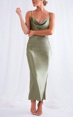 Cowl silk slip midi dress bordeaux blue pearl beige Silk slip trends dress bridesmaid style dress bias slip prom dress date dress Silk Bridesmaid Dresses, Satin Dresses, Prom Dresses, Formal Dresses, Bridesmaids, Summer Dresses, Gowns, Dresses Dresses, Club Dresses