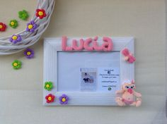 portafoto bebe personalizado decorado pasta flexible, ideal para regalo bebe, babyshower, bautizos