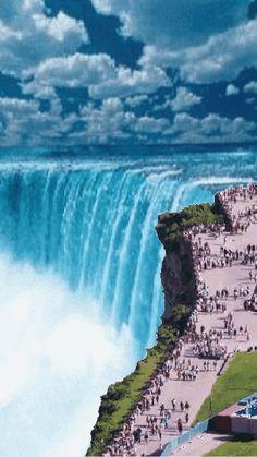 Animation 22 Cikal_R / Niagara Beautiful Nature Wallpaper, Beautiful Gif, Beautiful Landscapes, Beautiful Pictures, Rainbow Waterfall, Waterfall Photo, Plitvice Lakes National Park, Landscape Wallpaper, Beautiful Waterfalls