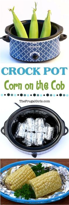Crock Pot Corn on the Cob- yes, you can cook corn in the slow cooker with this recipe! | The Frugal Girls