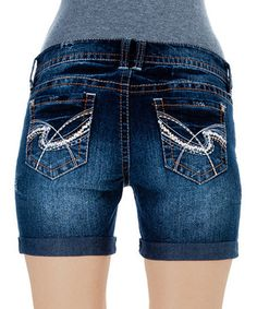 Loving this Victoria Chop Pocket Denim Shorts on #zulily! #zulilyfinds