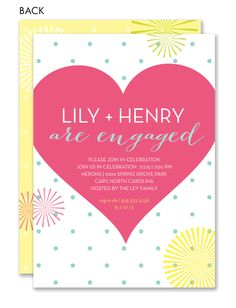 Polka Dot Fun Engagement Party Invitation  by Noteworthy Collections