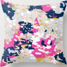 pink and navy throw pillows - Google Search
