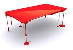 """Blood drip table. A """"must have"""" for Tallulah Bloodsucker!"""