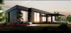 Architecture, : Extraordinary Minimalist Small Modular Homes Design With Frameless Glass Windows For Natural Lightning For Green Home Design
