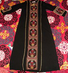 Vintage Bedouin Cross Stitch Embroidered Full Length by becocooned