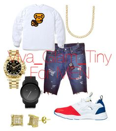 """""""Untitled #425"""" by tinyybeautylicious on Polyvore featuring Reebok, Levi's, Diesel, Lord & Taylor, Simply Silver, Rolex, men's fashion and menswear"""