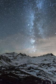 """""""Milky-way over the Grande Casse""""  http://chloeesprit.com   Gallery """"Astronomie - Astronomy"""""""