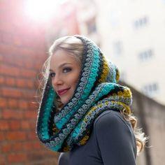 Häkelmuster: Schals häkeln: Warme Kapuzenschals für den Winter