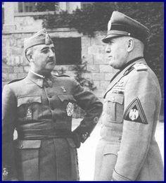 Francisco Franco y Benito Mussolini: Dime con quién andas y te diré quién eres