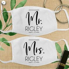 These Mr and Mrs last name wedding masks are one of our WeddingWire editors' top picks. Click for more wedding mask ideas. Planning your wedding has never been so easy (or fun!)! WeddingWire has tons of wedding ideas, advice, wedding themes, inspiration, wedding photos and more. {Etsy}