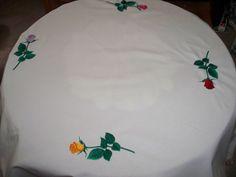 entre agujas y canillas la mar de bordados mantel bordado para la mesa