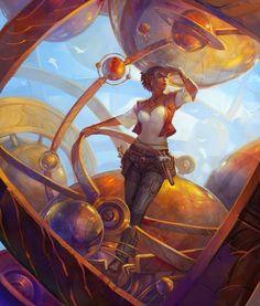 As mulheres nas ilustrações de fantasia e ficção científica de Julie Dillon