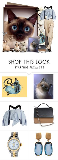 """""""Thai cat ♥"""" by asia-12 ❤ liked on Polyvore featuring Jason Wu, Roland Mouret, Givenchy, Rolex and Marco Bicego"""