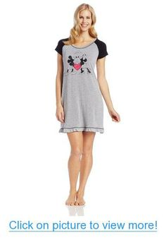 Disney Lux Women's Mickey and Minnie Kiss Sleepshirt