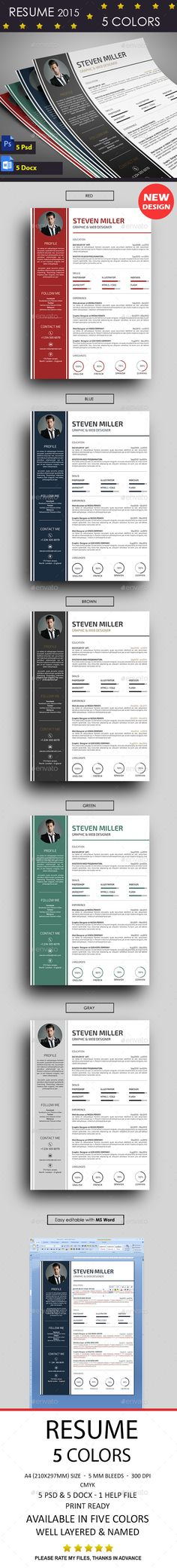 Resume Cv template, Resume cv and Creative cv template - how to make resume on word