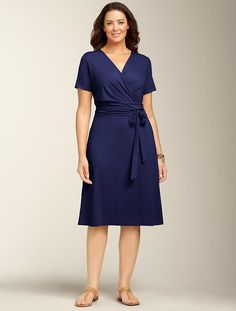 We welcome every plus-size professional woman who wants to build a closet of modern, elegant and well fitting work wear and invite you to visit www.executive-image-consulting.com for more information. Talbots - Ruched-Wrap Dress | Dresses | Woman