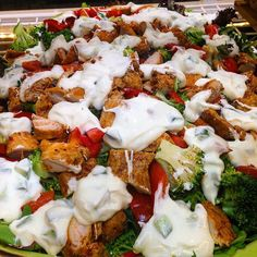 Grab your healthy lunch today at Delisse! Smokey paprika chicken salad with broccoli roasted capsicum fresh lettuce and special dressing cucumber yoghurt  Perfect for a carb free but filling lunch.  #delisseau #delisse #freshfood #seasonal #food #sydneycafe #lowcarb #chicken #healthyfood #yoghurt #delicious #yummy #paprika by delisseau