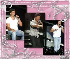 3 Photo Glittered Pink Frame