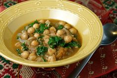 Moroccan-Spiced Chickpea & Kale Stew1 can Chickpeas (unsalted)3 Tomatoes (medium sized)1/2 Onion (chopped)1 handful of Kale (washed with thick stems removed)2 cloves of Garlic, minced1 generous tbsp Cumin1 tsp Cinnamon 1 tsp ground Coriander1/4 tsp ground Cloves2 tbsp extra virgin Olive Oil  Bring water to a boil in a large sauce pan. Add tomatoes to boiling water and let sit until skins break. Drain tomatoes in a colander and run cold water over them. In a saute pan, saute onion in…