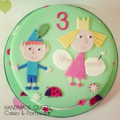 Ben and Holly cake Ben And Holly Party Ideas, Ben And Holly Cake, Ben E Holly, Fall Birthday, Birthday Cake Girls, 5th Birthday, Birthday Parties, Birthday Cakes, Birthday Ideas
