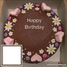 Write Name On Cake With Photo and Age [madeline] Write Name On Cake, Birthday Cake Write Name, Birthday Cake Writing, Cake Name, Birthday Wishes With Photo, Happy Birthday Wishes Images, 70th Birthday Decorations, Popular Birthdays, Beautiful Birthday Cakes