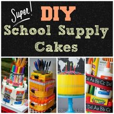 Back to School DIY School Supply Cakes | Spoonful