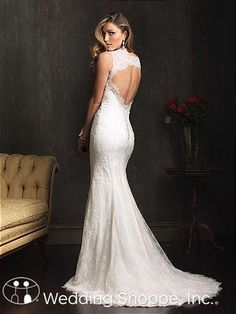Style 9062 from Allure Bridals has a keyhole back to die for.