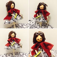 muñeca personalizada - broche profesora -  @monjulieta fcbk: Gloria Colomer - Món Julieta