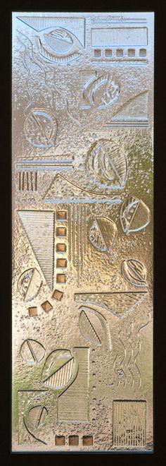 Fused glass panel. Fused, kiln carved, tack fuse finish option