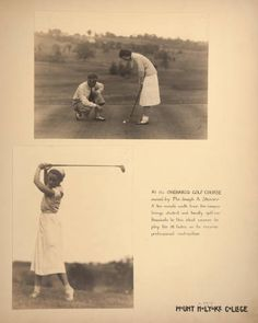 Mount Holyoke View Book, scenes of golfing and receiving professional instruction at the Orchards Golf Course :: Archives & Special Collections Digital Images :: circa 1930-1937